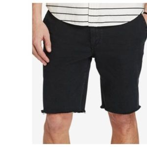 POLO RALPH LAUREN Cutoff Denim Frayed Shorts Black